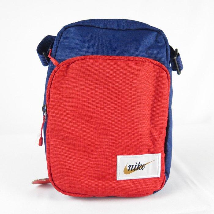 【iSport愛運動】NIKE HERITAGE SMIT 側肩背包 BA5809492 藍紅 24X16X8CM