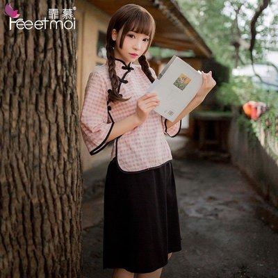 【臺灣發貨】情趣內衣民國風學生裝性感旗袍睡裙睡衣禮物cosplay 7964