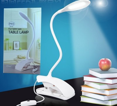 SOGO 網~s1337_帶開關夾式書桌檯燈~節能夾燈 閱讀燈 工作燈 彎管式燈臂輕鬆方便
