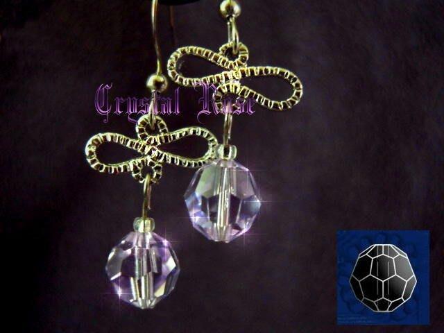 ※水晶玫瑰※ SWAROVSKI 8mm水晶珠 耳勾式針式耳環(DD336)~出清~三對免郵