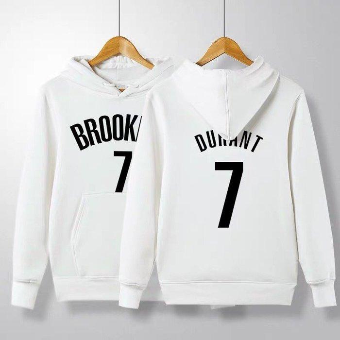 💥KD杜蘭特Kevin Durant長袖連帽T恤上衛衣💥NBA籃網隊Adidas愛迪達運動籃球衣服大學純棉T男970