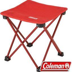 【山野賣客】Coleman CM-23169 紅色 輕便摺疊凳 折凳 低座小椅 戶外野餐椅 摺疊椅 休閒椅 童軍椅 追星