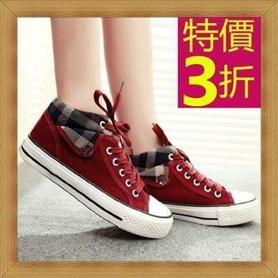 帆布鞋 女平底鞋-輕便清新正韓女休閒鞋3色53u47[韓國進口][米蘭精品]