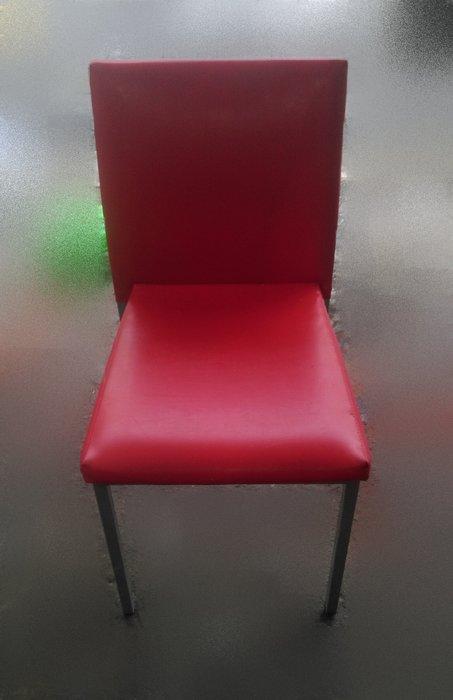 樂居二手家具 F0805BJJ 紅色餐椅 洽談椅 書桌椅 電腦椅 會客椅 2手各式桌椅拍賣【全新中古家具家電賣場】