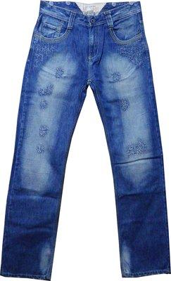 全新 DY7981 破壞加工 口袋黃繡線 刷白牛仔褲 200含運費
