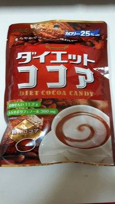扇雀飴本舖老店   熱量降低25% Diet Cocoa Candy  可可亞糖  保持可可亞風味 熱量降低~