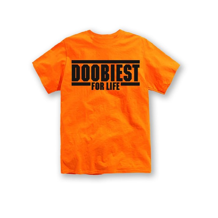 【DOOBIEST】- DOOBIEST FOR LIFE Tee (橘)