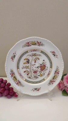 紫丁香歐陸古物雜貨♥ 英國vintage Adams wedgwood牡丹花朵白色浮雕點心盤.蛋糕盤.餐盤