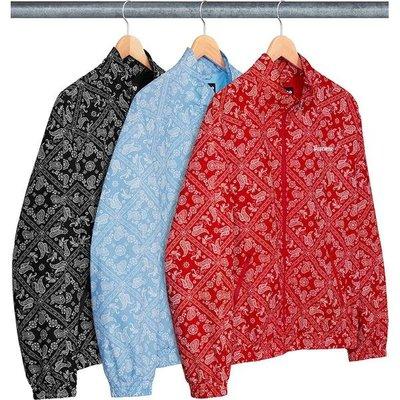 【紐約范特西】預購Supreme Bandana Track Jacket 變形蟲 外套