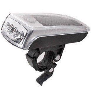 ☀️傑能科技☀️太陽能 自行車 前燈 頭燈  腳踏車燈 腳踏車 (白光)C-008 面向陽光