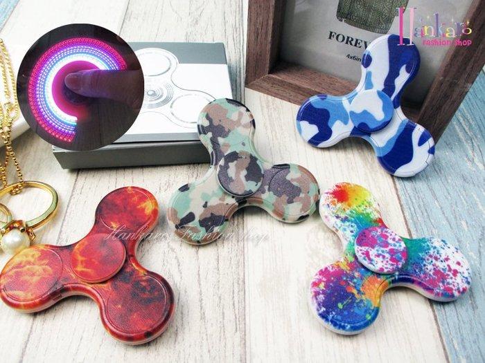 ☆[Hankaro]☆ 流行LED發光彩繪造型系列指尖陀螺手指陀螺
