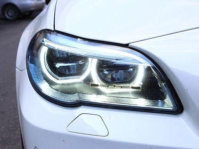 《※台灣之光※》全新BMW F10 F11 14 15 16 17年全車系改M5樣式光圈黑底全LED頭燈大燈組