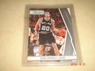 美國職籃 NBA Spurs Manu Ginobili  2010 Panini Prestige #106 球員卡