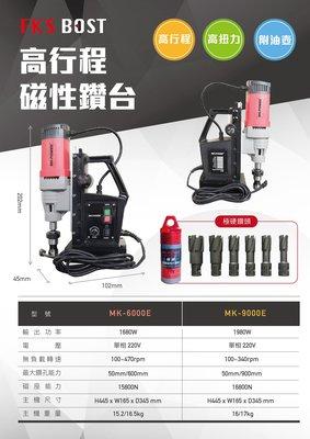 WIN五金 MK-POWER 高揚程強力型MK-6000 磁性鑽孔機 磁性鑽台 電鑽 鑽台 磁性鑽台