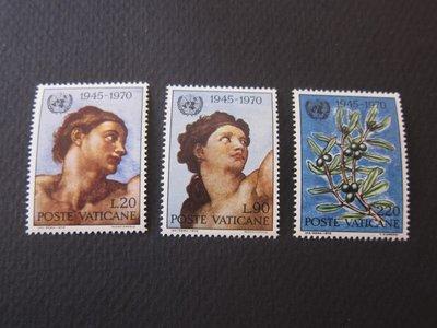 【雲品】梵蒂岡Vatican 1970 Sc 492-94 set MNH 庫號#75664
