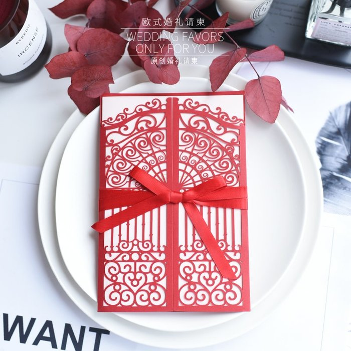 衣萊時尚-熱賣款  請帖結婚創意歐式婚禮邀請函新款請柬喜帖 XD53
