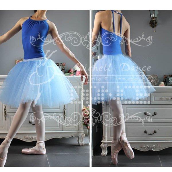 5Cgo【鴿樓】會員有優惠 15488722024 芭蕾舞蹈裙 成人芭蕾舞蹈紗裙成人芭蕾舞練功服4層網紗裙半身裙芭蕾舞