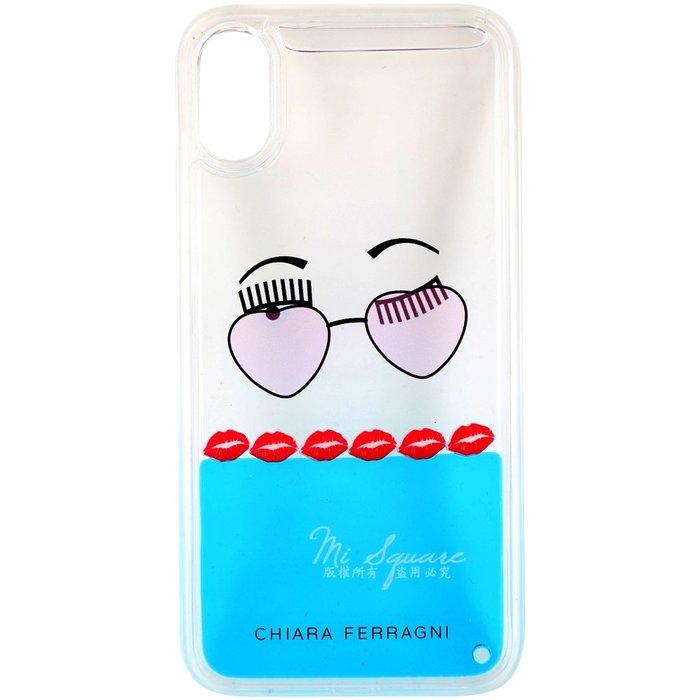 米蘭廣場 Chiara Ferragni 墨鏡紅唇圖案iPhone X手機殼(5.8吋)1920674-23