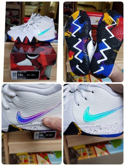 Nike KYRIE 4 皮革蛇紋 籃球鞋 正品 AA2898104