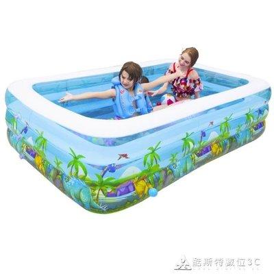 漫遊寶寶嬰兒童充氣游泳池家用成人超大號加厚家庭寶寶戲水池小孩 YXS