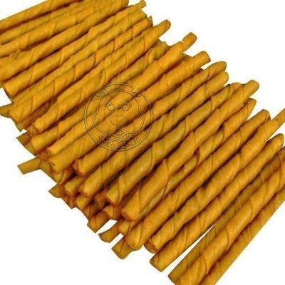 【??培菓寵物48H出貨??】寵物愛吃《煙燻味脆笛酥牛皮捲5吋/1支入》特價4元(自取不打折)