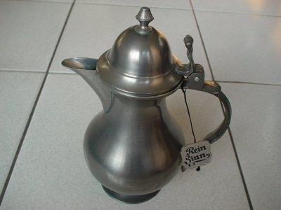 德國REIN ZINN 92% 古董錫器茶壺,錫壺品相超優,保存完美,值得珍藏【A151】