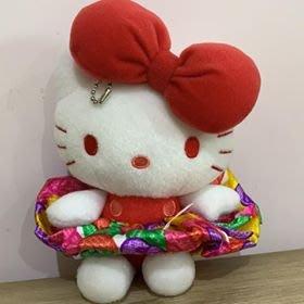 【東京家族】Hello Kitty凱蒂貓 可拆卸式裙子 髮圈 玩偶吊飾