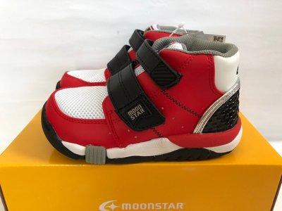 《日本Moonstar》低筒護踝款矯正機能款─中童段(紅黑)C21402