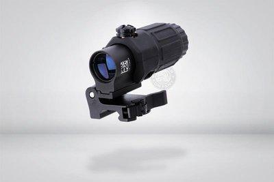 台南 武星級 複刻 G33 STS 側翻 三倍鏡 黑 ( 狙擊鏡 瞄準鏡 倍鏡 快瞄 瞄具 紅外線 紅雷射 外紅點 激光
