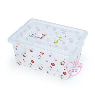 ♥小花花日本精品♥HelloKitty雙子星美樂蒂玩具衣物雜物透明收納箱單一價99120009