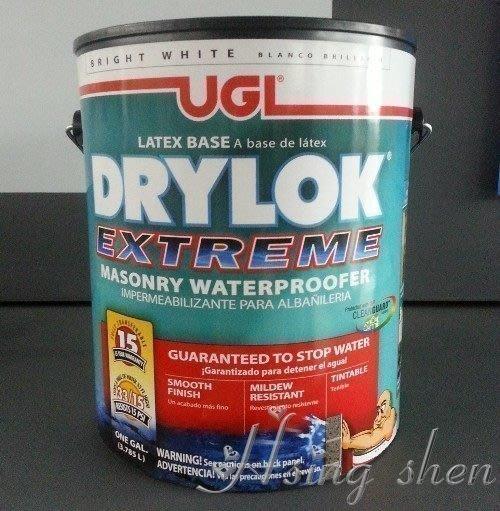 【( *^_^* ) 新盛油漆行】UGL 壁癌 防水塗料 15年 DRYLOK 抗22英呎高的水壓及12PSI負水壓  耐久性