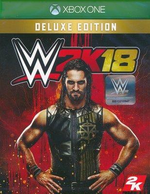 現貨中 XBOXONE 遊戲 豪華版 WWE 2K18 美國勁爆職業摔角 英文亞版 【板橋魔力】