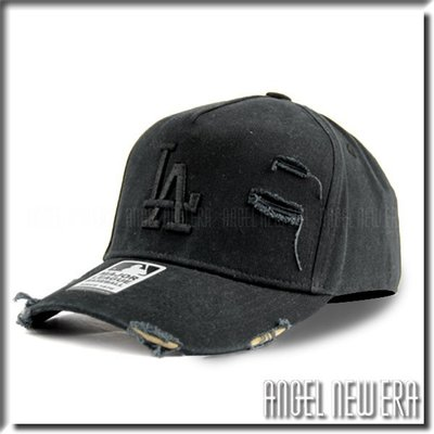 【ANGEL NEW ERA 】MLB Old Fashioned Cap LA  道奇 黑 水洗 破壞 卡車帽 洛杉磯