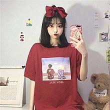 小香風 短袖T恤 時尚穿搭 韓版 寬松百搭印花網紅超火中長款短袖T恤上衣女裝ins