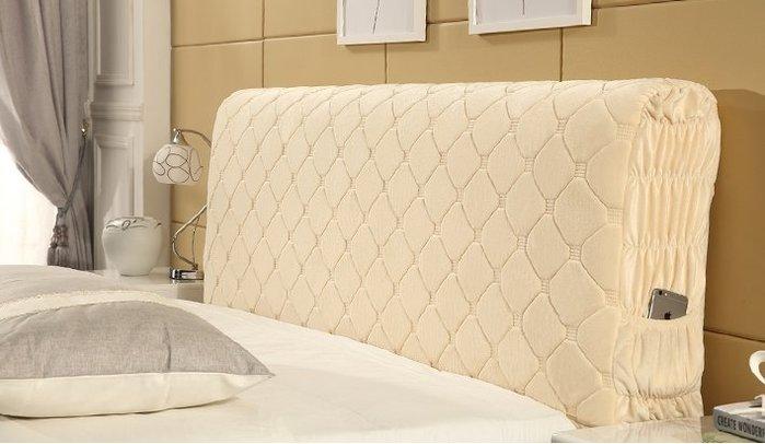 布藝床頭罩1.8m歐式公主加厚實木床頭套1.5m防塵罩夾棉背罩