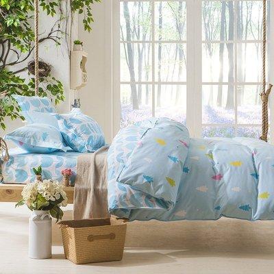 床包【RS Home】雙人標準5呎雙人加大6呎床包被套枕套沙發套沙發罩保潔墊床墊四件組[Summer]