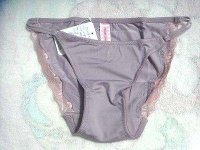 [點點藍]日本帶回PEACH JOHN藕芋色蕾絲三角內褲 尺寸:S