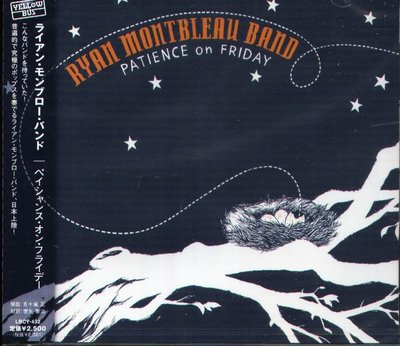 K - Ryan Montbleau Band - Patience on Friday - 日版 2007 - NEW