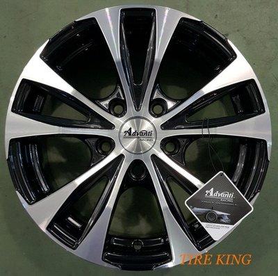 土城輪胎王 Advanti ADV-09 15吋 高亮黑底車面 4/ 100 5/ 114.3 雅泛迪 SIRION 新北市
