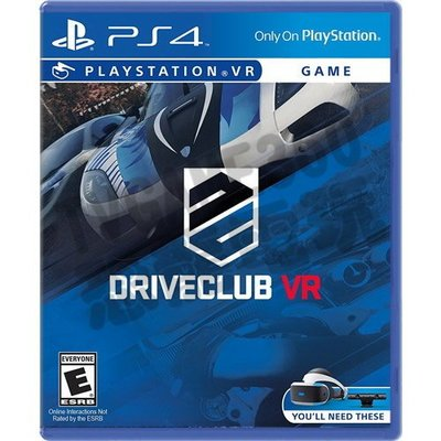 【二手遊戲】PS4 PS 駕駛俱樂部 VR DRIVECLUB VR 中文版【台中恐龍電玩】
