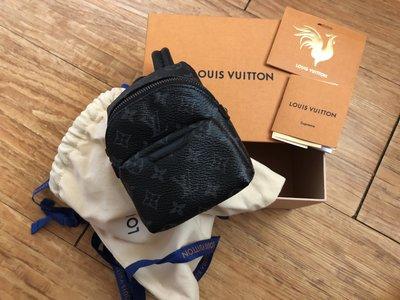 [慶端午放粽一下]Louis Vuitton LV 迷你 後背包 零錢包 吊飾 全新正品 超限量 全台唯一現貨 supreme 藤原浩