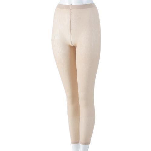 日本製輕薄暖吸濕發熱防捲九分衛生褲/保暖褲/發熱褲(黑色/膚色)--秘密花園
