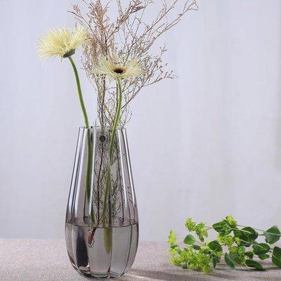 鮮花玻璃花瓶擺件客廳插花 養花玻璃瓶歐式