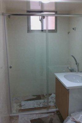☆特優惠☆13000完工 乾濕分離 淋浴門 淋浴拉門 無框型 一字橫推
