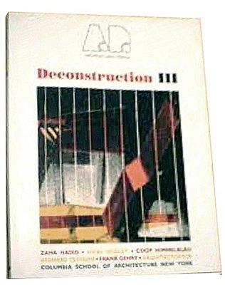 [賞書房] 原文書@ 建築設計結構研究@ 解構 III《DECONSTRUCTION III》