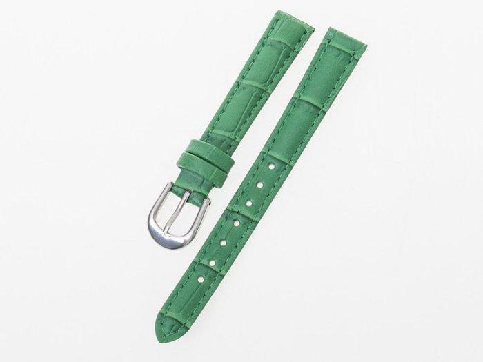 小牛皮鱷魚紋錶帶 真皮手錶錶帶 – 綠 - 多尺寸可選