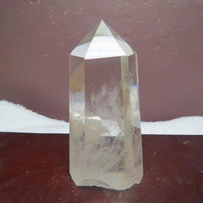 【競礦網】巴西純天然3A清料白水晶柱112公克(AA15)(親民價、便宜賣、限量一件)原價600元