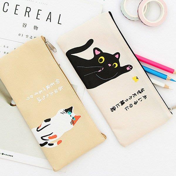 《Jami Honey》【JC2800】日文物語貓咪的生活帆布筆袋 鉛筆盒