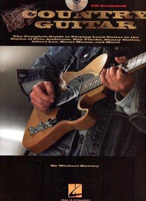 [ 反拍樂器 ] Red Hot Country guitar 電吉他進口教材 (附CD)缺貨中