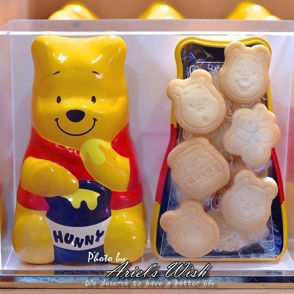 Ariel's Wish預購-東京迪士尼DisneyLand立體頭小熊維尼winnie公仔餅乾鐵罐收納組---日本製--